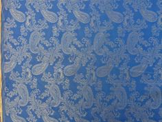 Blue shot Gold floral PAISLEY JACQUARD Jacket lining embroidery asian vintage silky polyester fabric dressmaking sewing dress costumes