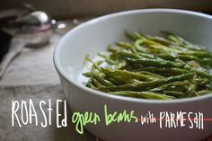roasted green beans w/ parmesan--Super yummy! The kick from the red pepper flakes is great. I ate the whole thing for lunch in one sitting.