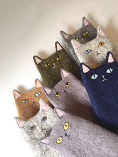 Now in my shop www.Pets, Home & Garden: Ideal toys for small catsOrganic Cotton knit kitty dolls, I love their cozy sweaters!How sweet - cats in jumpersKitty Dolls created by Lucky Juju on Etsy Link to 5 Adorable Etsy Animal Softie Friends. Fabric Crafts, Sewing Crafts, Sewing Projects, Wet Felting, Needle Felting, Cat Doll, Cat Crafts, Felt Toys, Felt Art
