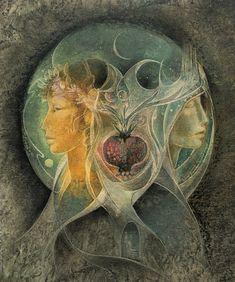 Persephone Demeter (Persephone: Goddess of the seasons, Queen of the Underworld, Goddess of rebirth and reincarnation.) (Demeter: Goddess of grain, Harvest, Mother/Alternate of Persephone) Art Magique, Beginning Of Spring, Forest Flowers, Inspiration Art, Hades And Persephone, Sacred Feminine, Divine Feminine, Mabon, Samhain