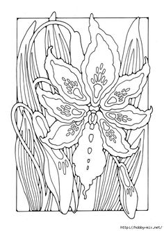 Lily by Dandi Palmer Free Adult Coloring, Free Coloring Sheets, Printable Coloring Sheets, Adult Coloring Book Pages, Flower Coloring Pages, Mandala Coloring, Colouring Pages, Coloring Books, Protea Art