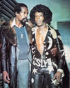 Eddie Kendricks (The Temptations) and Sly Stone (Sly & The Family Stone) - Soul and Funky Soul! Soul Jazz, Soul Funk, Music Icon, Soul Music, Indie Music, Look Disco, Sly Stone, Eddie Stone, The Family Stone