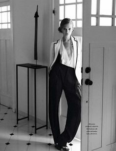 Androgynous 1920's women;s fashion editorial