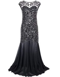 Elegant Evening Dresses Full Figured Women PrettyGuide Women 's Black Sequin Gatsby Maxi Long Evening Dress. Find dresses full figured women in Black and other beautiful colors and styles. Gorgeous gowns plus size women. Forever Beauty Products by Lucy Prom Dresses 2017, Black Wedding Dresses, Bridesmaid Dresses, Formal Dresses, Maxi Dresses, Wedding Sari, Dress Prom, Bride Dresses, Long Dresses