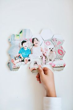 Make this simple DIY Photo Tile Puzzle where you and your family become the star! All you need is a photo, Mod Podge, Bounty paper towels, a mini tiles to create this easy crafting project. Creative Kids, Creative Crafts, Fun Crafts, Crafts For Kids, Puzzle Crafts, Baby Crafts, Photo Craft, Diy Photo, Puzzle Photo
