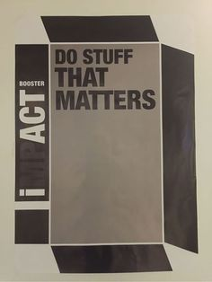 """Do stuff that matters"". Yep let's. Thanks for the inspiration #NWC"