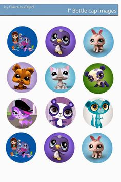 Free Bottle Cap Images: Littlest Pet Shop free digital bottle cap images