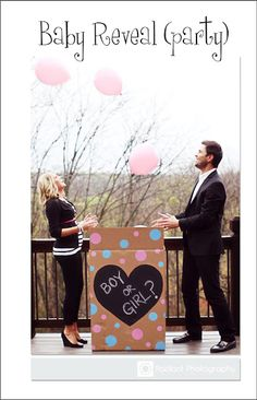 Baby Reveal Party. Very Cute Idea!