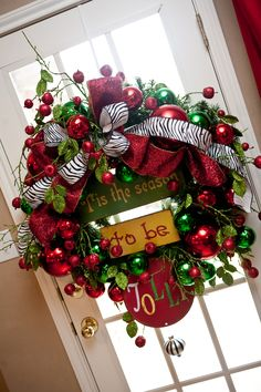 "Jolly Holiday 3/""Oh How I Love Thee""... I want this in my kitchen on the door!"