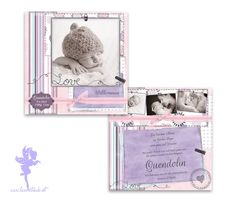 Babykarte Geburtskarte Quendolin von Feenstaub auf DaWanda.com