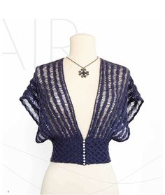Ravelry: Drop Stitch Shrug pattern by Jill Wright