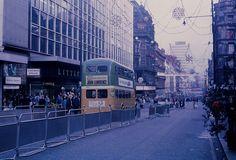 Sauchiehall Street, Glasgow: bus only experiment (Guy) Glasgow Scotland, Scotland Travel, Gorbals Glasgow, World Best Photos, Family History, Old Photos, Street View, City, Buses
