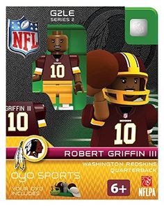 Robert Griffin Iii Nfl Washington Redskins Oyo Mini Figure Lego Compat New G2