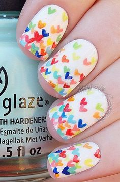 Make it a little fun but simple. With a white base, you could create little hearts in the colors of the rainbow.
