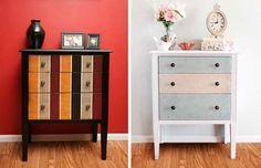 Gorgeous Dresser Makeover   17 DIY Bedroom Furniture Makeover For Minimalists