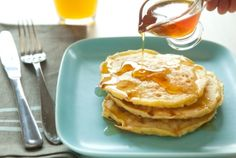 Fluffy Cottage Cheese Pancakes // Celebrate Shrove Tuesday with a pancake party!