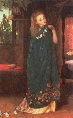 """""""GOODNIGHT"""" (1865-1866) By: Arthur Hughes"""