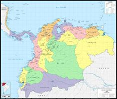 The 37 provinces and their departments, in the Republic of Gran Colombia from 1824 to South America Map, Latin America, Alternate History, Fantasy Map, Historical Maps, World History, Big Picture, Cover Photos, Geology