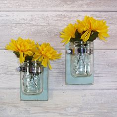 Hey, I found this really awesome Etsy listing at https://www.etsy.com/listing/166404238/sale-cottage-chic-wall-flower-vases-farm