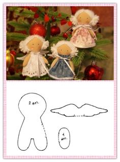 6 fabric reindeer tree decorations a unique product by kurad Via en DaWanda com - Her Crochet Christmas Ornament Crafts, Christmas Angels, Holiday Crafts, Christmas Crafts, Christmas Decorations, Tree Decorations, Diy Angels, Angel Crafts, Sewing Dolls