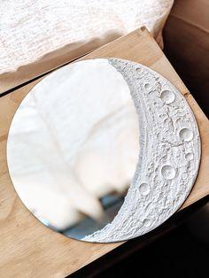 Moon Mirror, Diy Mirror, Mirror Ideas, Mirror Decor Living Room, Simple Living Room Decor, Room Ideas Bedroom, Diy Room Decor, Dollar Store Crafts, Dollar Stores