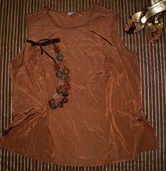ELEGANCKA wizytowa bluzka brąz 54-56 (5737335164) - Allegro.pl - Więcej niż aukcje.
