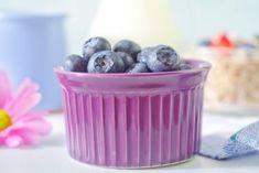 Superenkel limedessert med blåbær