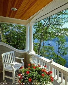 Covered porch with a view