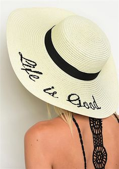 $22+Life+Is+Good+Beach+Floppy+Hat+Fashion