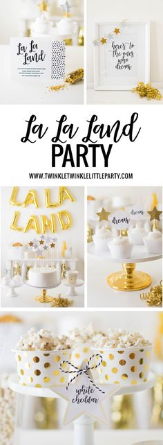 The Oscars Party Ideas: Host a La La Land Inspired Party - FREE printables!