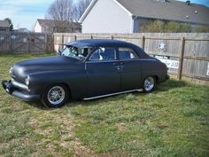1949 Merc sedan light custom in flat black, pinstriping, visor and dummy spot lights 5.3 VORTEC ENGINE,4L60 TRANS.ALL COMPUTERIZED,CRUISE CONTROL,HEAT AND AIR,RACK AND PINION STEERING pic 1