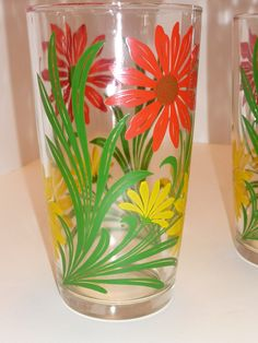 Fun 1950's Kitchen Glasses Set of 5. $32.00, via Etsy.