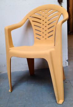 Plastic Chair Painted With Chalk Paint By Annie Sloan. Have Been Standing  Outside For Nearly
