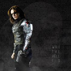 Not a man. Just a name. So warming to this character, Bucky Barns--hot as hell; wish the Fox could have a new arm made like this! But he would understand and they would be brothers...somehow.