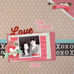 #papercraft #scrapbook #layout   Love - Scrapbook.com