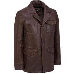 YGT Men's Faux Leather Slim Trench Coat Double Breast Parka Jacket ...