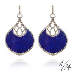 Cloud Nine Lapis Nocturnal lapis lazuli large chandelier earrings, a numbered edition of Annoushka/24.