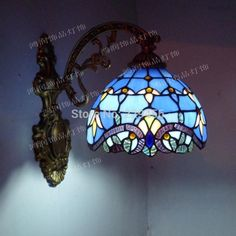 Fashion Tiffany Wall Lamp European Baroque Mirror Bedroom Lamp Stained Glass Sconce Lamparas Luminaria E27 110 240V-in Wall Lamps from Lights & Lighting on Aliexpress.com | Alibaba Group