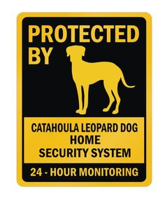 Protected by Catahoula Leopard Dog Home Parking Sign in Home & Garden | eBay