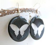 Resin jewellery handmade in Switzerland from eco epoxy by OlaliHandmade Handmade Jewelry, Unique Jewelry, Handmade Gifts, Resin Jewellery, Semi Transparent, Epoxy, Butterflies, Drop Earrings, Trending Outfits