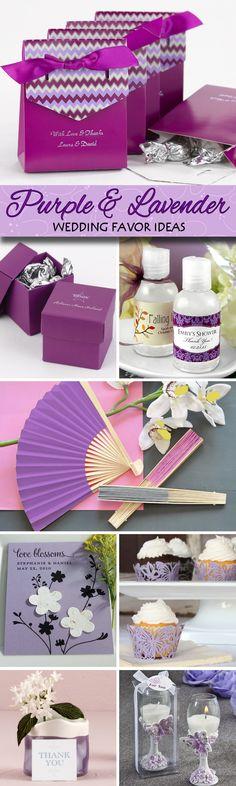 30 Unique Purple & Lavender Wedding Favor Ideas