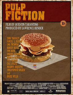 Pulp Fiction - Tasty burger poster #GangsterMovie #GangsterFlick