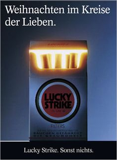 Lucky Strike // Weihnachten im Kreise der Lieben. #advertising #ads #cigarettes #tobacco #luckystrike