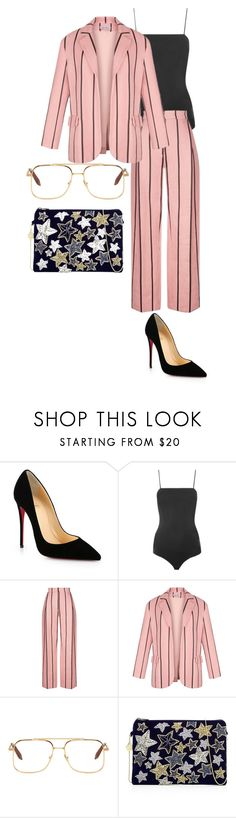 """Untitled #1242"" by itssarahh ❤ liked on Polyvore featuring Christian Louboutin, Topshop, Victoria Beckham and From St Xavier"