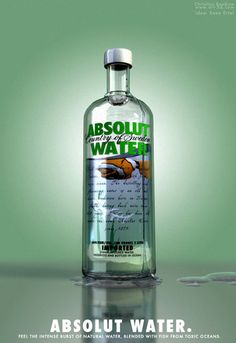 ABSOLUT WATER. Absolut Vodka