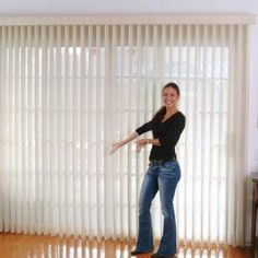 Sliding glass doors look great with vertical sheer shades