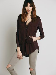 Free People Breakfast in Bed Buttondown at Free People Clothing Boutique