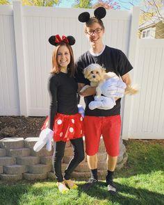 Mickey, Minnie, & Pluto Halloween Costume