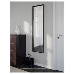 NISSEDAL Miroir, noir, 40x150 cm - IKEA Black Mirror, My New Room, My Room, Ikea Nissedal, Billy Regal, Body Mirror, Ikea Mirror, Bathroom Mirrors, Wall Mirrors