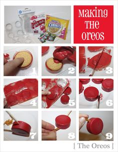 "how to make ""apples"" from Oreos for back to school treats"